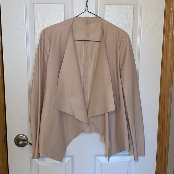 Pink/ Cream faux leather jacket